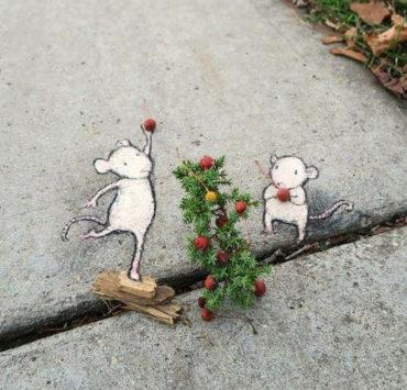Вуличні малюнки Девіда Зінна: Для тих, кому хочеться більше добра у цей день