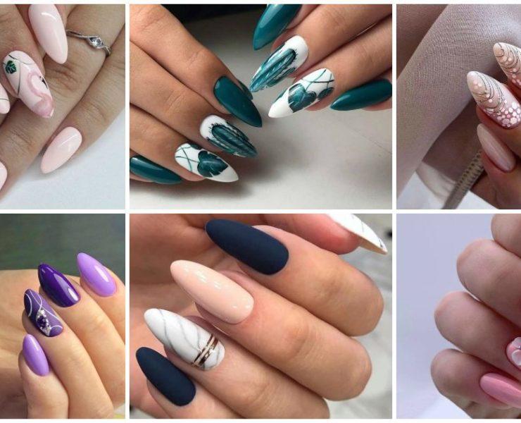 50+ ідей дизайну мигдалеподібних нігтів