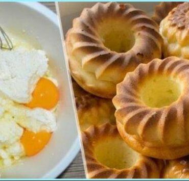 Повітряні сирники на сметані в духовці: просто чарівний смак