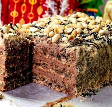 Смачний торт без борошна «Шоколадний пломбір» з насиченим шоколадним смаком!