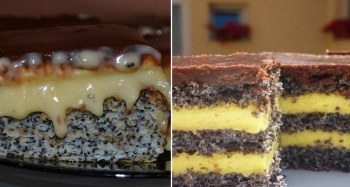 торт з маком і родзинками