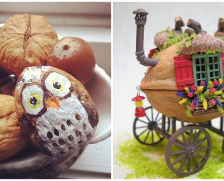 20 ідей для творчості з горіхової шкарлупи