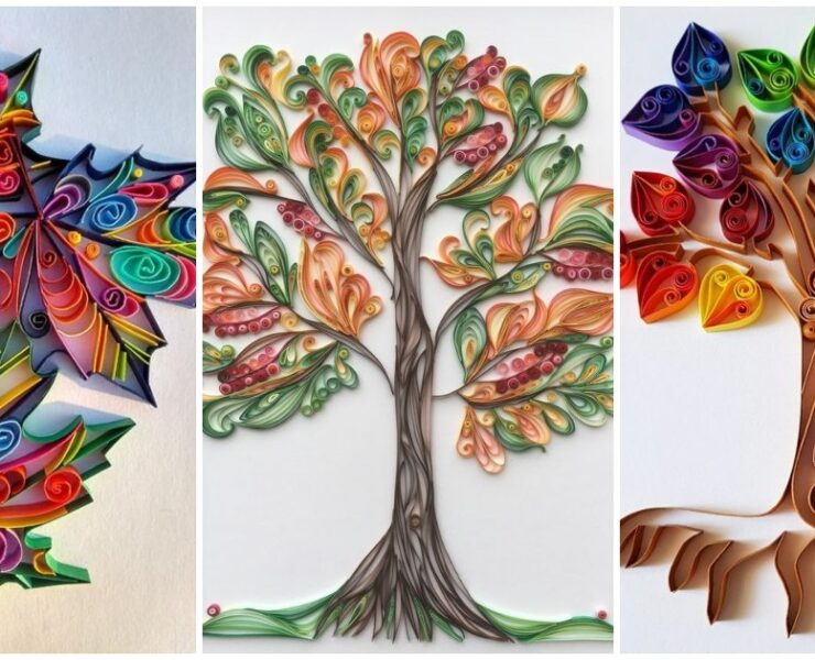 Осінні композиці в техніці квілінг: творимо з паперових смужок