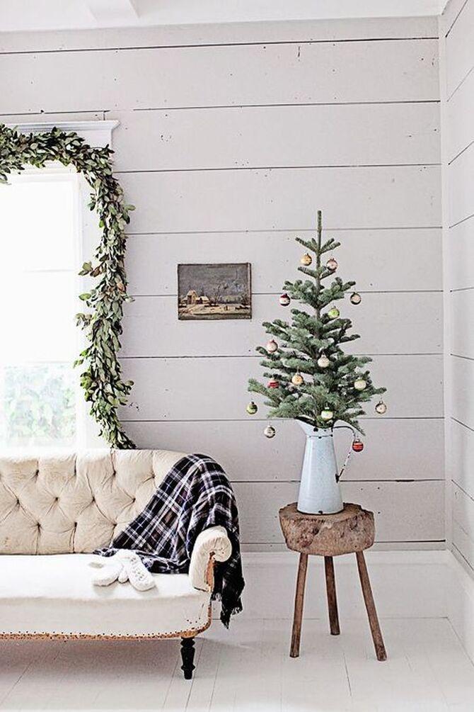 Різдвяний декор: 40 казкових ідей прикрашання маленької ялинки 8
