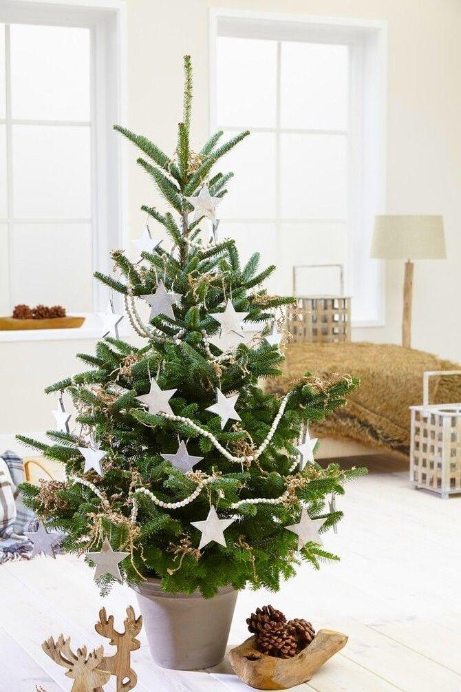 Різдвяний декор: 40 казкових ідей прикрашання маленької ялинки 7