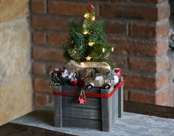 Різдвяний декор: 40 казкових ідей прикрашання маленької ялинки 4
