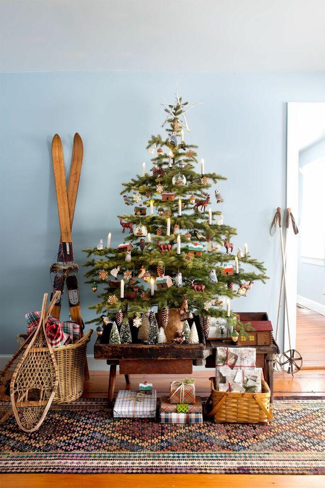 Різдвяний декор: 40 казкових ідей прикрашання маленької ялинки 30