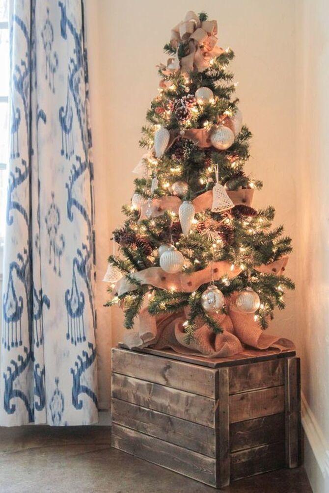 Різдвяний декор: 40 казкових ідей прикрашання маленької ялинки 34