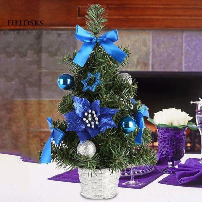 Різдвяний декор: 40 казкових ідей прикрашання маленької ялинки 25