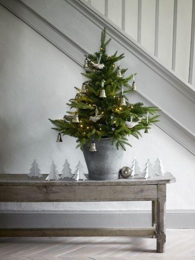 Різдвяний декор: 40 казкових ідей прикрашання маленької ялинки 36