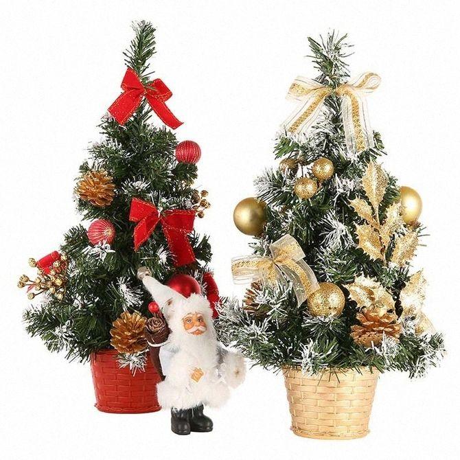 Різдвяний декор: 40 казкових ідей прикрашання маленької ялинки 41