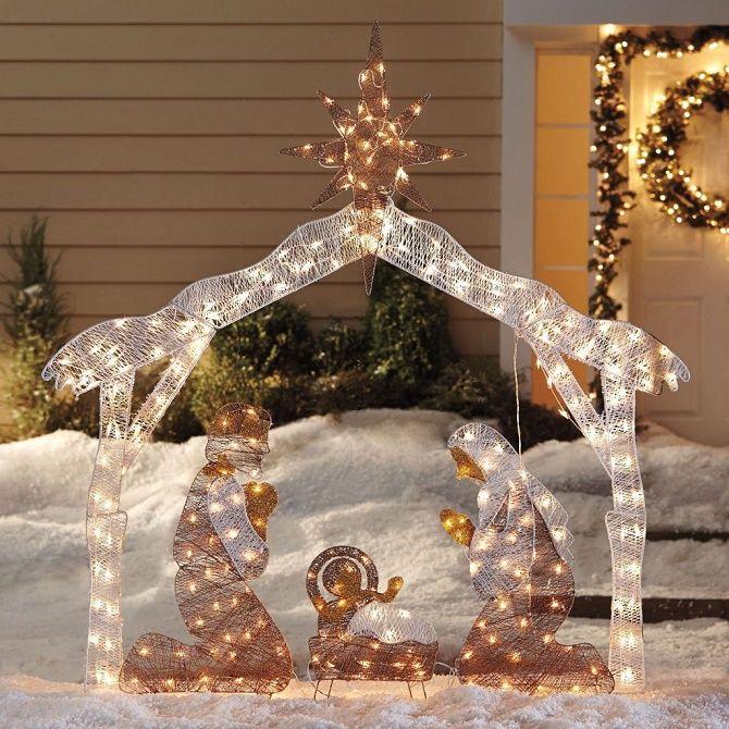 Цікаві ідеї, як прикрасити двір на Новий рік 2021 5