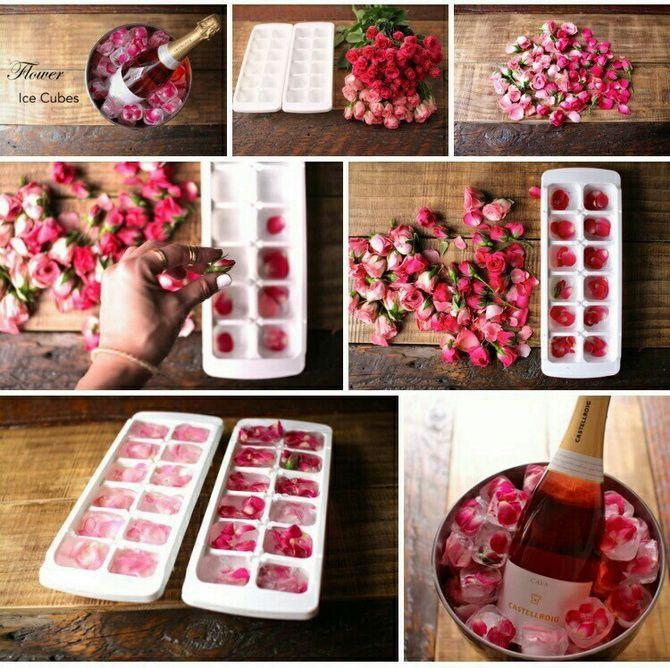 лед с лепетками роз