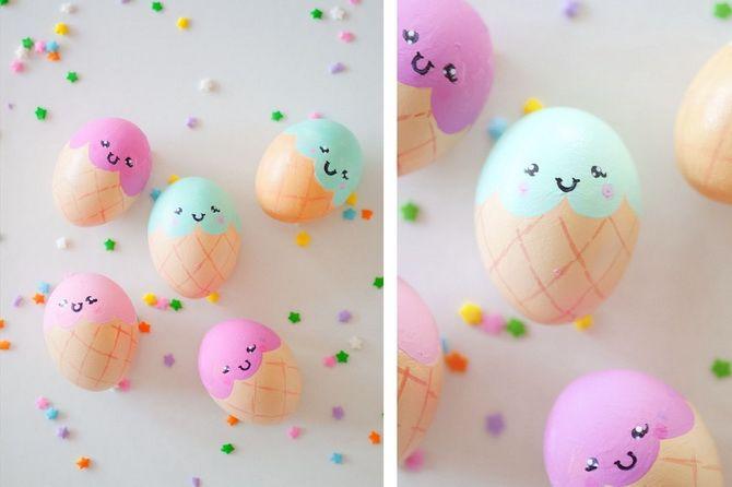 пасхальные яйца из атласных лент